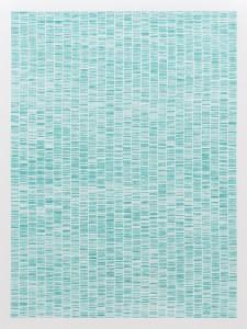 Sans titre, 2013. Empreintes digitales, collage. 70 × 100 cm