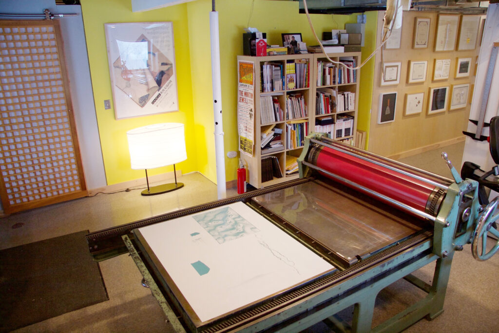 Lithographic studio copy
