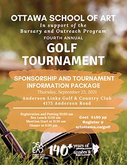 Golfe Fore Art! Sponsorship Package.