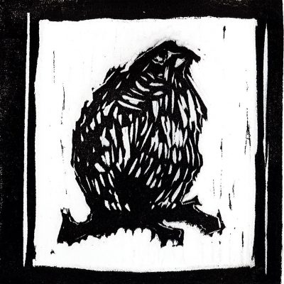 Siobhan Arnott Ruffled Feathers Linocut, 2020 Ontario